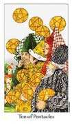 Ten of Coins Tarot card in Dreaming Way deck