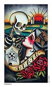 Death Tarot card in Eight Coins' Tattoo Tarot deck