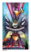 Temperance Tarot card in Eight Coins' Tattoo Tarot deck