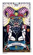 The Devil Tarot card in Eight Coins' Tattoo Tarot deck