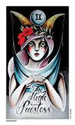 The High Priestess Tarot card in Eight Coins' Tattoo Tarot deck