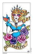 The Empress Tarot card in Eight Coins' Tattoo Tarot deck