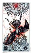 Ten of Wands Tarot card in Eight Coins' Tattoo Tarot deck