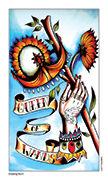 Queen of Wands Tarot card in Eight Coins' Tattoo Tarot deck