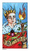 King of Wands Tarot card in Eight Coins' Tattoo Tarot deck
