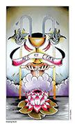 Ace of Cups Tarot card in Eight Coins' Tattoo Tarot deck