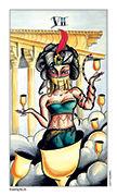 Seven of Cups Tarot card in Eight Coins' Tattoo Tarot deck