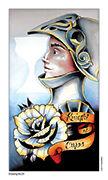 Knight of Cups Tarot card in Eight Coins' Tattoo Tarot deck