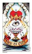 King of Cups Tarot card in Eight Coins' Tattoo Tarot deck