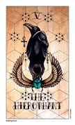 The Hierophant Tarot card in Eight Coins' Tattoo Tarot deck