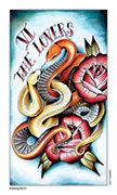 The Lovers Tarot card in Eight Coins' Tattoo Tarot deck