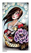 Page of Swords Tarot card in Eight Coins' Tattoo Tarot deck