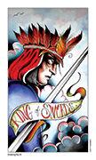 King of Swords Tarot card in Eight Coins' Tattoo Tarot deck