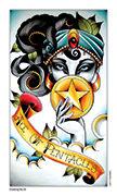 Ace of Pentacles Tarot card in Eight Coins' Tattoo Tarot deck