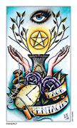 Page of Pentacles Tarot card in Eight Coins' Tattoo Tarot deck