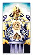 Knight of Pentacles Tarot card in Eight Coins' Tattoo Tarot deck