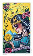 Queen of Pentacles Tarot card in Eight Coins' Tattoo Tarot deck