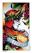 King of Pentacles Tarot card in Eight Coins' Tattoo Tarot deck