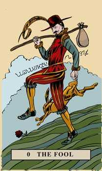 The Fool Tarot Card - English Magic Tarot Deck