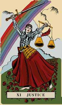 Justice Tarot Card - English Magic Tarot Deck
