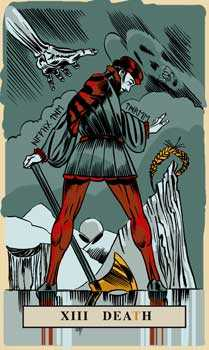Death Tarot Card - English Magic Tarot Deck