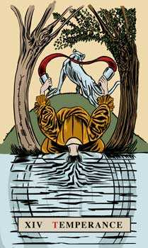 Temperance Tarot Card - English Magic Tarot Deck