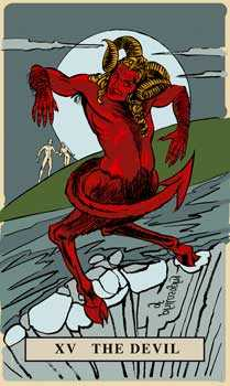 The Devil Tarot Card - English Magic Tarot Deck