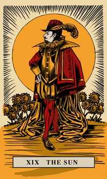 The Sun Tarot Card - English Magic Tarot Deck