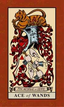 Ace of Rods Tarot Card - English Magic Tarot Deck