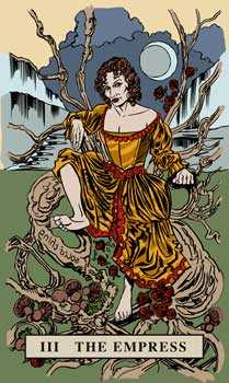 The Empress Tarot Card - English Magic Tarot Deck