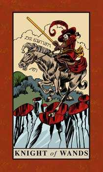 Knight of Rods Tarot Card - English Magic Tarot Deck