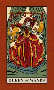 Queen of Clubs Tarot Card - English Magic Tarot Deck