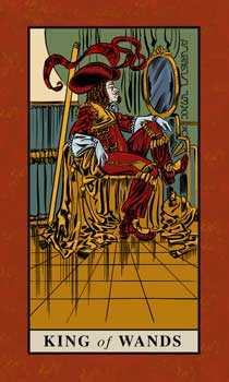 Roi of Wands Tarot Card - English Magic Tarot Deck
