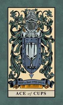 Ace of Cauldrons Tarot Card - English Magic Tarot Deck