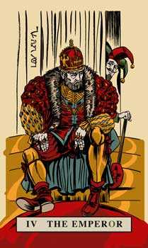 The Emperor Tarot Card - English Magic Tarot Deck