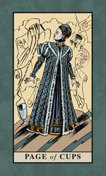 Valet of Cups Tarot Card - English Magic Tarot Deck