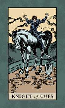 Knight of Cauldrons Tarot Card - English Magic Tarot Deck