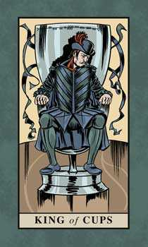 King of Cups Tarot Card - English Magic Tarot Deck