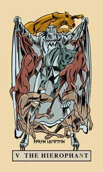 The Hierophant Tarot Card - English Magic Tarot Deck