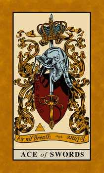 Ace of Bats Tarot Card - English Magic Tarot Deck