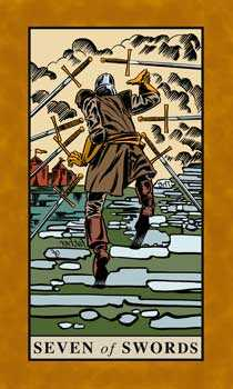 Seven of Swords Tarot Card - English Magic Tarot Deck