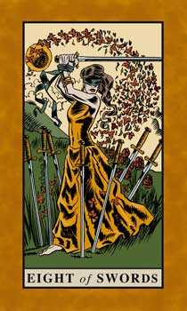 Eight of Arrows Tarot Card - English Magic Tarot Deck
