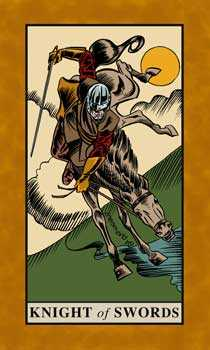 Knight of Spades Tarot Card - English Magic Tarot Deck