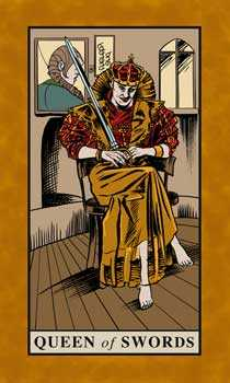 Queen of Swords Tarot Card - English Magic Tarot Deck