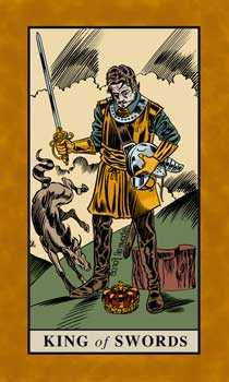 Roi of Swords Tarot Card - English Magic Tarot Deck