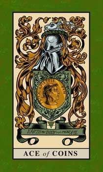 Ace of Coins Tarot Card - English Magic Tarot Deck