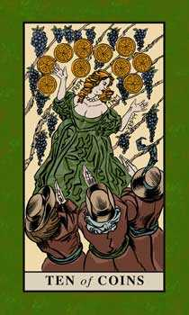 Ten of Discs Tarot Card - English Magic Tarot Deck