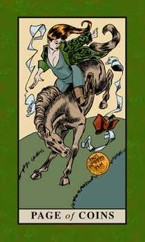 Knave of Coins Tarot Card - English Magic Tarot Deck