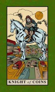 Cavalier of Coins Tarot Card - English Magic Tarot Deck