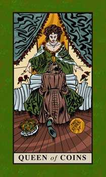 Queen of Coins Tarot Card - English Magic Tarot Deck